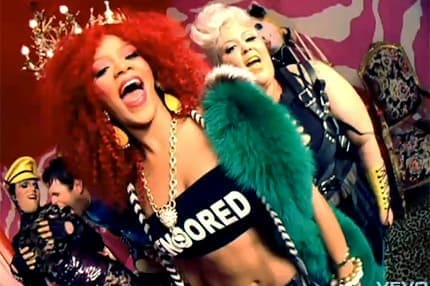 Picture of Rihanna from her clip