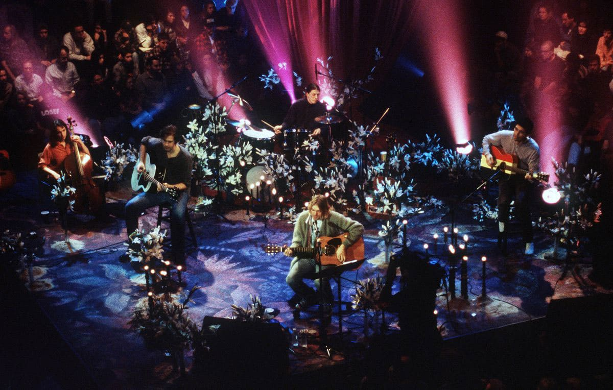 Kurt Cobain and Nirvana during the taping of 'MTV Unplugged' at Sony Studios in New York City in 1993