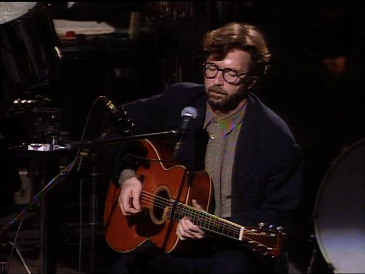 Eric Clapton performing at the MTV Unplugged